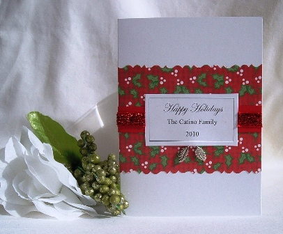 Christmas Cards Handmade Holly