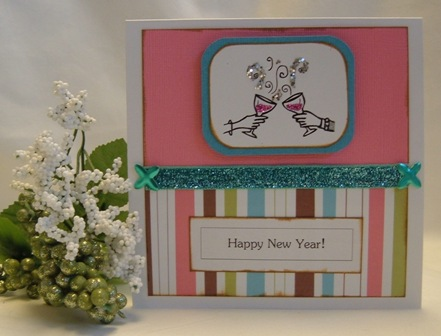 New Year greeting cards - charming and festive handmade cards can be