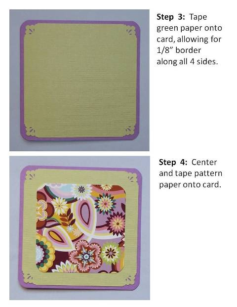 thank you card ideas instructions step 3