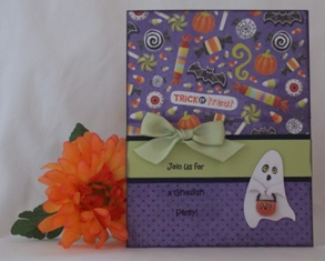 card halloween invitation