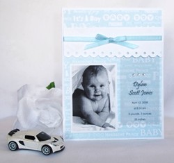handmade greeting card baby announcement idea