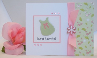 handmade baby greetings