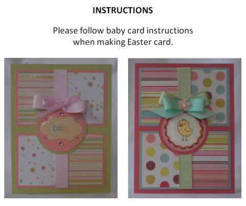 handmade baby greeting cards instructions