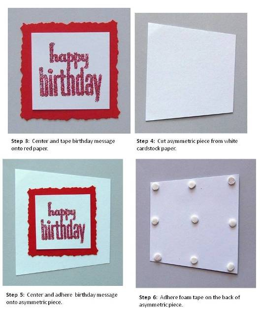 birthday card handmade instructions step 2