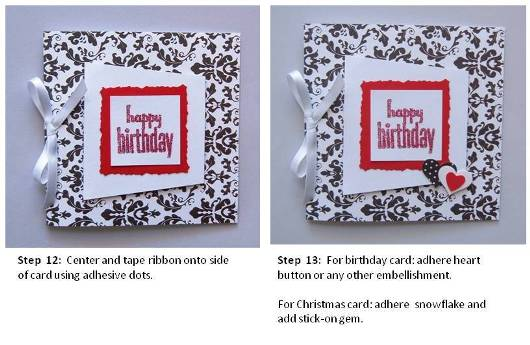 birthday card handmade instructions step 4