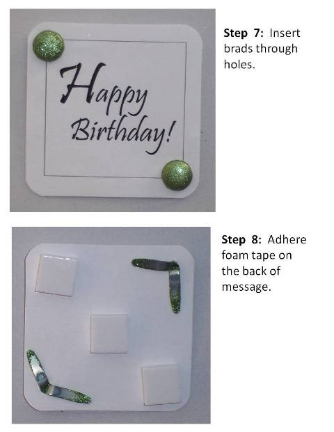 create a birthday card instructions step 5