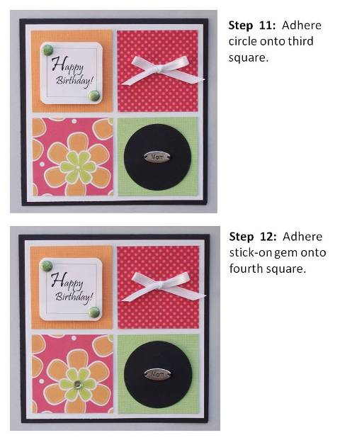 create a birthday card instructions step 7