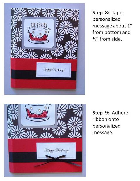 Homemade Birthday Card Ideas instructions step 5