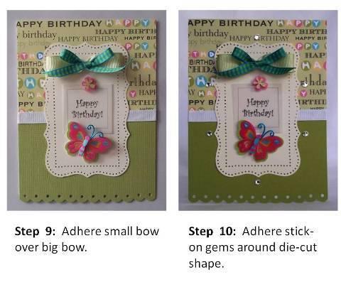 making handmade birthday card