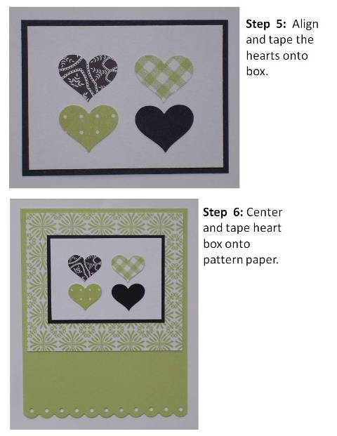 make your own birthday card green hearts instructions