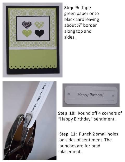 handmade valentine cards purple hearts instructions slide6