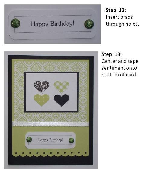 handmade valentine cards purple hearts instructions slide7