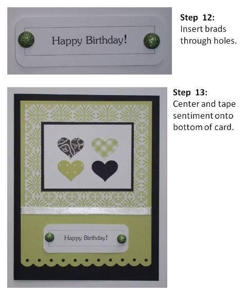 handmade valentine cards purple hearts instructions slide7
