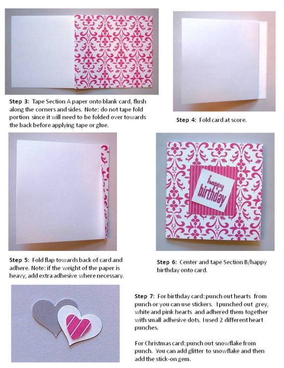 christmas card handmade instructions