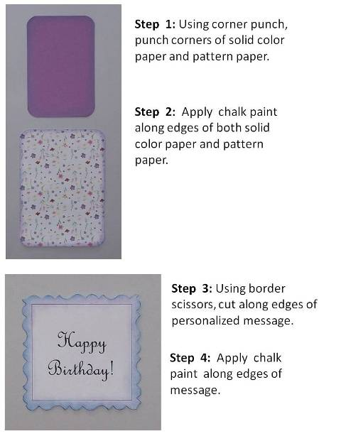 create a brithday card instructions step 2