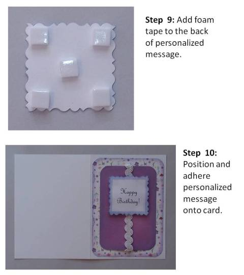 create a brithday card instructions step 5