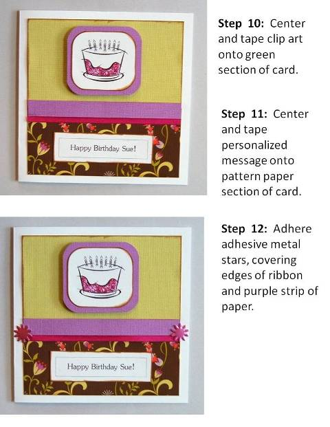 birthday card design step by step instructions