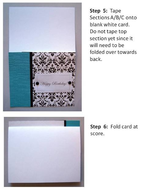 baby shower invitation instructions step 4