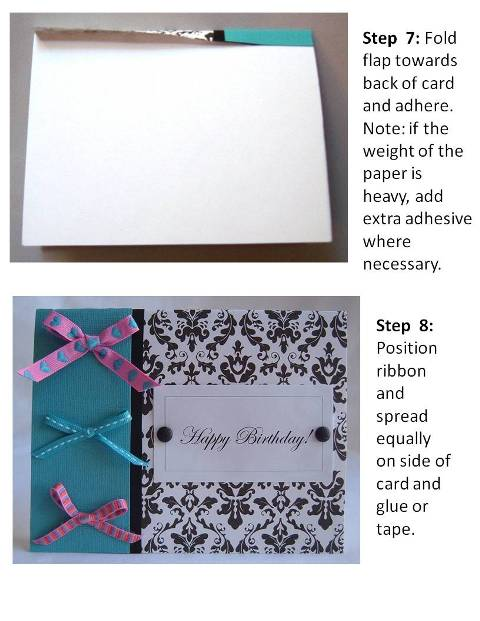 baby shower invitation instructions step 5
