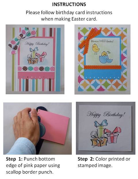 handmade easter greeting cards instructions