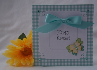 easter card ideas butterfly sticker