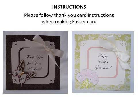 make an easter card instructions