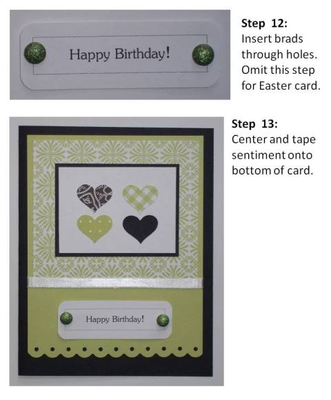 make easter cards instructions