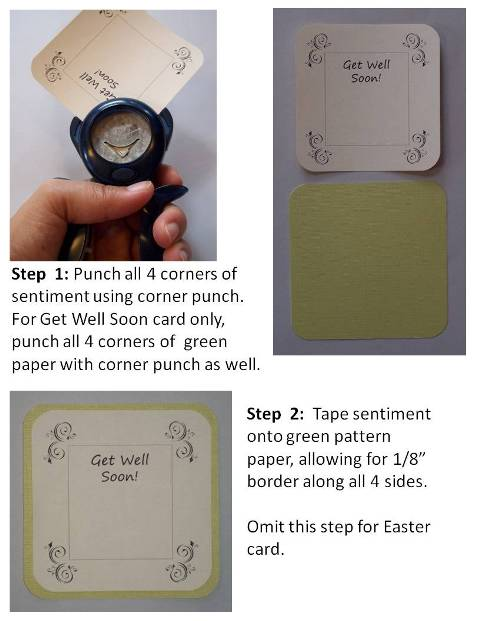 homemade easter card step by step instructions