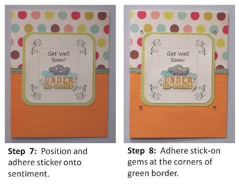 get well soon homemade card step by step instructions