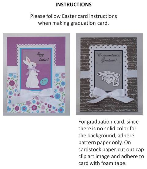make your own graduation card - instructions