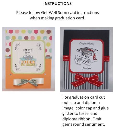 make your own graduation cards - instructions