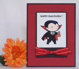 halloween card ideas vampire