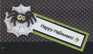 halloween card idea sentiment