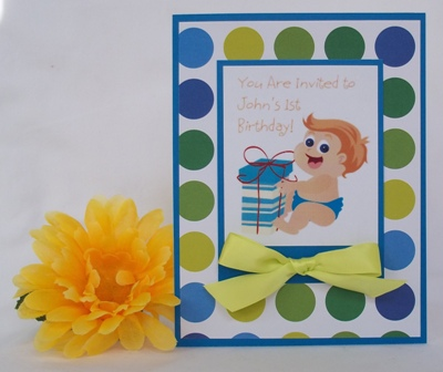 1st birthday invitation fun handmade card ideas 1st birthday invitation filmwisefo Gallery