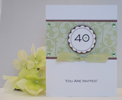 40TH BIRTHDAY PARTY INVITATIONS EXAMPLES OF HANDMADE CARDS – Homemade Birthday Invitation Ideas
