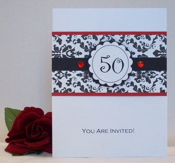 50th birthday party invitation idea