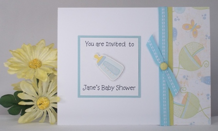 Baby Shower Invitation Templates Cute Boy Handmade Card Ideas