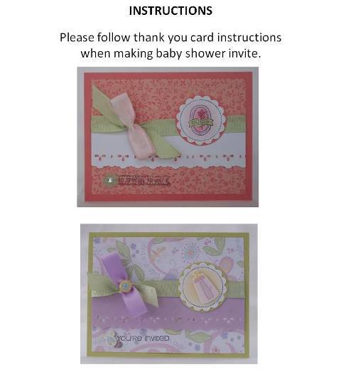homemade baby shower invitation instructions