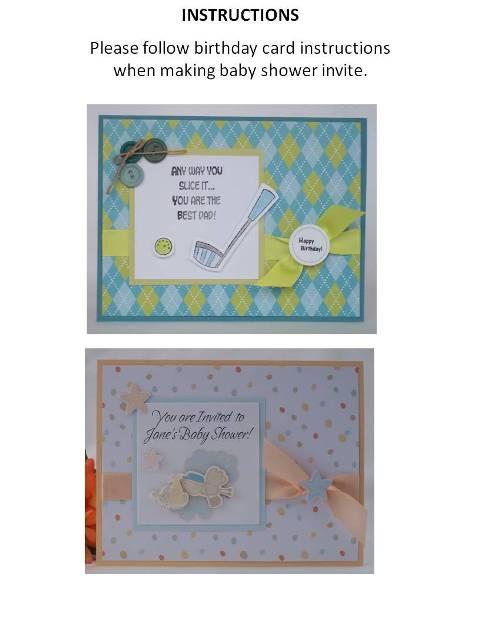 homemade baby shower invitations instructions