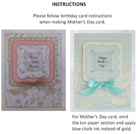homemade mothers day cards instructions
