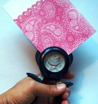 handmade card ideas half inch punch used
