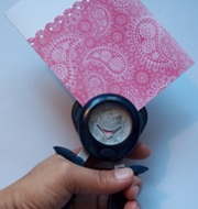 using a craft punch to make greeting cards