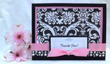 thank you card idea pink
