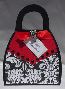 handmade card purse