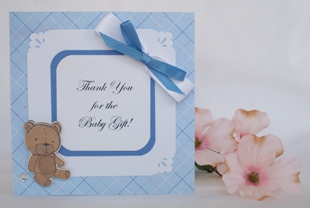 THANK YOU FOR BABY GIFT WITH MANY CUTE EXAMPLES OF HANDMADE CARDS