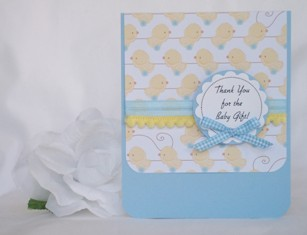 baby shower thank you card idea