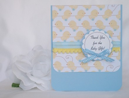 baby gift thank you with many cute examples of handmade cards