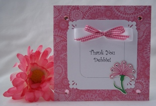 making thank you card flower