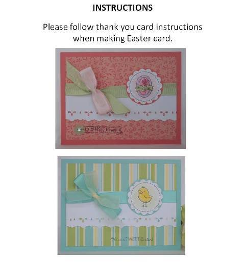 make a easter card instructions