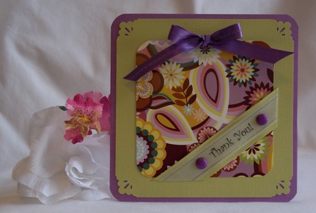 thank you card ideas purple green
